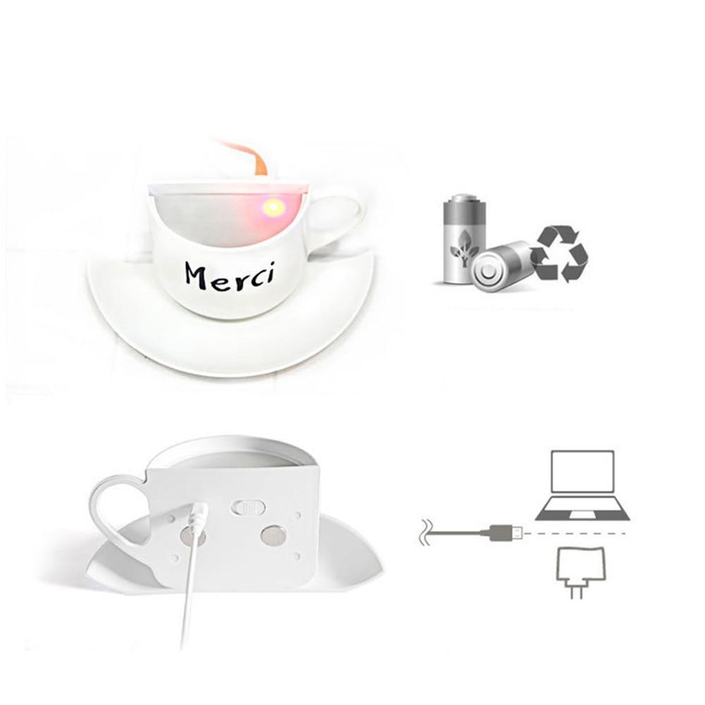 DIY Kreative 3D Kaffee Tasse Lampe Intelligente Spracherkennung ...