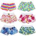 Marca de moda de Las Mujeres del Desgaste de la Playa Pantalones Cortos Trajes de Baño de Gran Tamaño Para Las Mujeres Verde Amarillo corto de bain femme