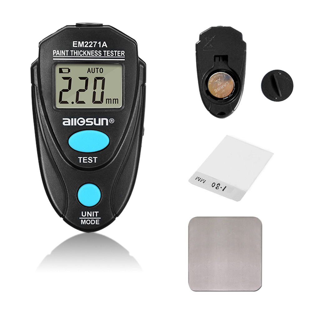 Digital Paint Coating Meter 0.01-2.20mm for Car Thickness Gauges Meter Russian Manual EM2271A all-sun