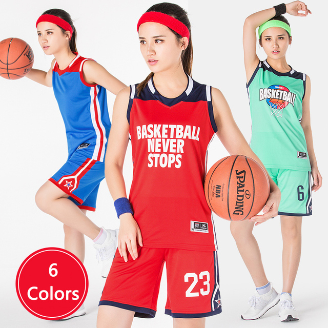 Newest Women S Basketball Jersey Team Sports Uniform Shirt Short
