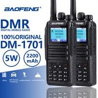 2 шт. Baofeng DM 1701 цифровой мобильный радио Dual Time слот Tier1 Tier2 DMR Ham Радио КВ трансивер Охота двухканальные рации CB радио