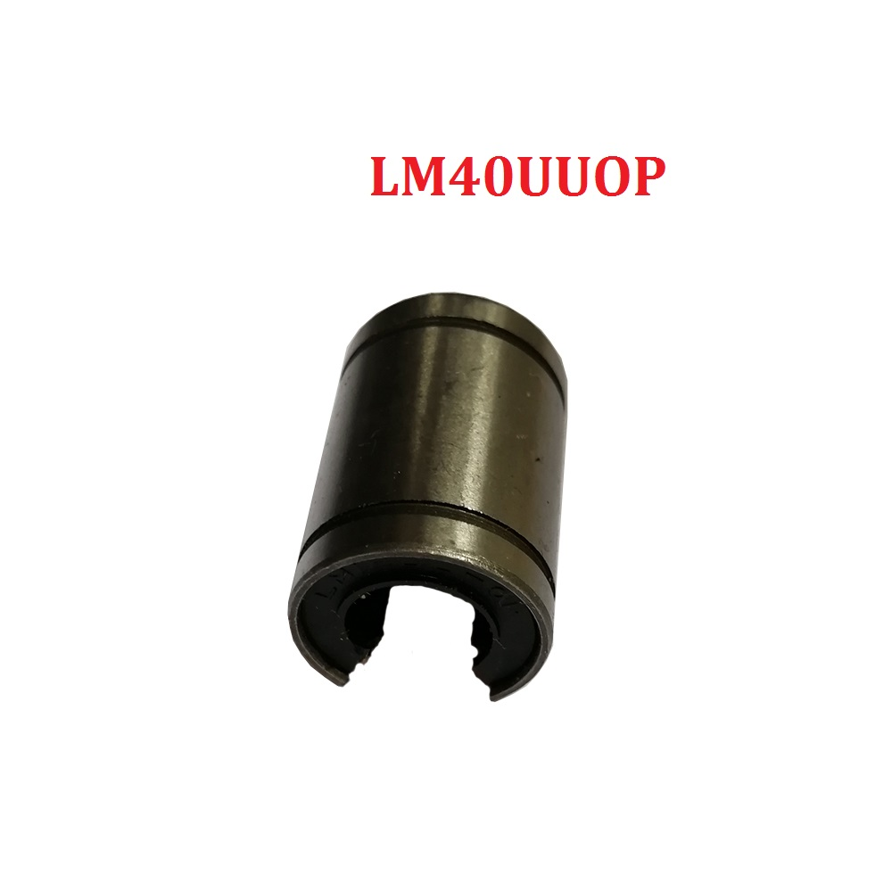 1pcs LM40UUOP 40mm Open Type Linear Bushing CNC Bearings For linear shaft 4pcs lot free shipping lm35uuop 35mm linear bearings open type cnc linear bushing lm35op