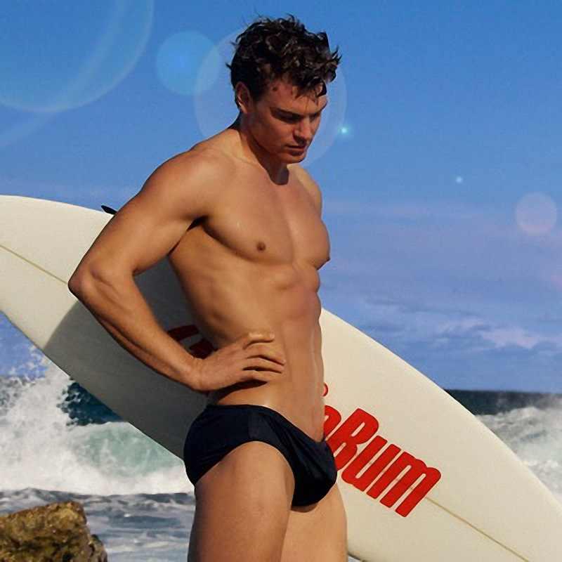 Ben hombres natación corto de algodón marca Popular Aussiebem hombres ropa interior Briefs Sexy cinco colores Gay traje de baño bañadores cortos traje de baño
