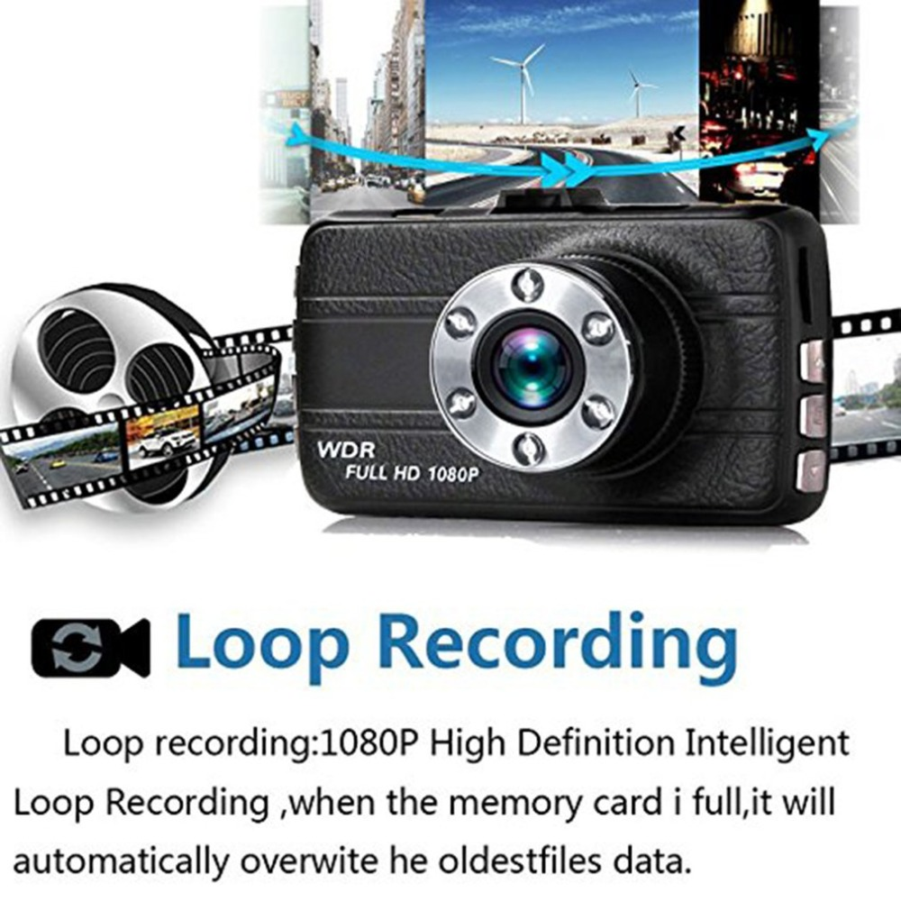 1080 p Mini WiFi Auto 3,0 zoll Kamera DVR Video Dash Cam Recorder Monitor Nachtsicht 145C APP für Android /iPhone
