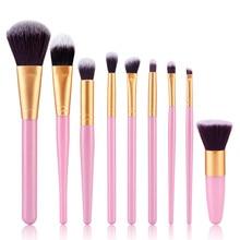 9Pcs Or 6Pcs Professional Makeup Brush Set Foundation Blusher Tool Face Powder Kit top quality