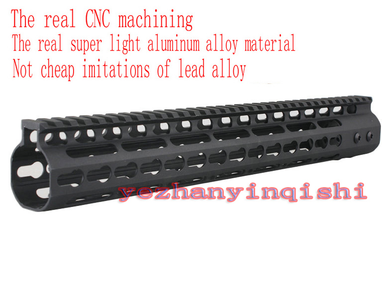 Picatinny rail High Quality aluminum CNC 13.5 inch Handguard One-piece Top Rail System For AR-15 M4 M16 BLACK  - Free shipping 2pcs high quality 1 2 inch shank rail