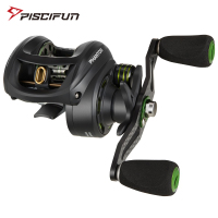Piscifun Phantom Baitcasting Reel Fishing Tackle 7.0:1 Gear Ratio 7.7kg Max Drag 7 Bearings Dual Brake Ultralight Carbon Fiber