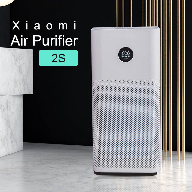 Xiaomi Mi Air Purifier 2S MIJIA Formaldehyde Cleanner Automatic Home Air Fresher Smoke Detector Hepa Filter