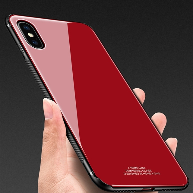 new arrival fa982 d016a US $3.54 27% OFF|Rezzol For iPhone XS XR XS Max Case Tempered Glass Hard  Back Cover Case With Silicone Frame For iPhone XR XS Max Fundas-in Fitted  ...