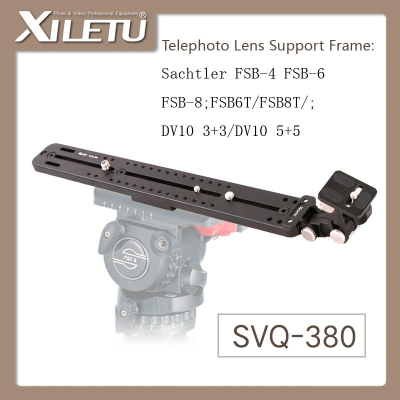 XILETU SVQ-380 Telephoto Lens Support Frame Camera lens holder Stand Bracket For Sachtler FSB-4/6/8 FSB6T/8T DV10 3+3/5+5 halter cut out wire free bikini page 7