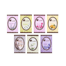 Lovely 7 Taste Fresh Air Scented Fragrance Home Wardrobe Drawer Car Perfume Sachet Bag New 7pcs/Pack
