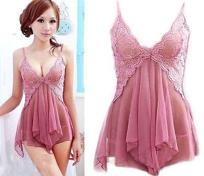 471ef65d0db 2019 new hot fashion backless Women s Sexy Lingerie Babydoll Sleepwear  Underwear Lace Dress G-string Nightwear