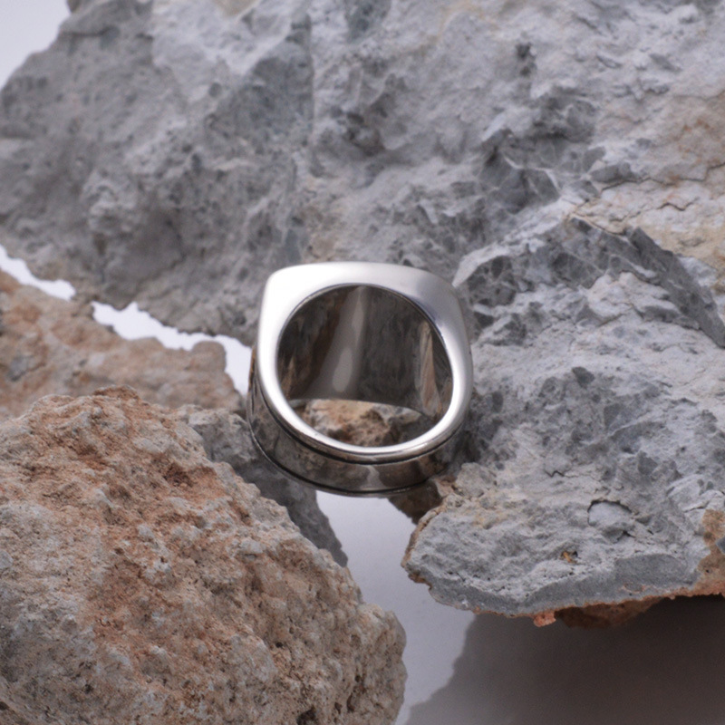 Fashion online game of warcraft titanium steel ring steel casting titanium rings