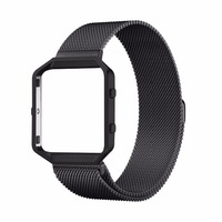 TOROTOP 2017 NEWEST Arrival Fashion MILANESE WATCH BAND For FITBIT BLAZE With Metal Frame WATCH STRAP FOR FITBIT BLAZE CORREAS