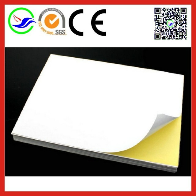 30 sheets blank a4 white sticker self adhesive paper printing copy sticker label frosted matte surface