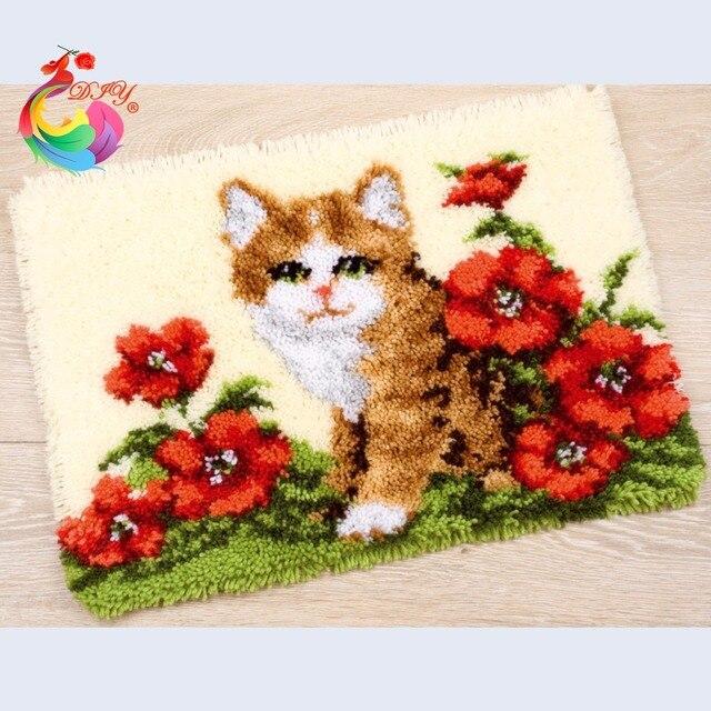 Нитки для вышивания ткань для шитья маркеры для вязания вышивка комплекты ковры и ковры Мультфильм крюк с Защелкой ковер комплекты