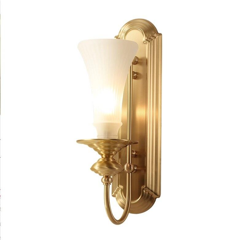 New York Design 47cm Hight Brass Wall Lamp with Glass Shade стоимость