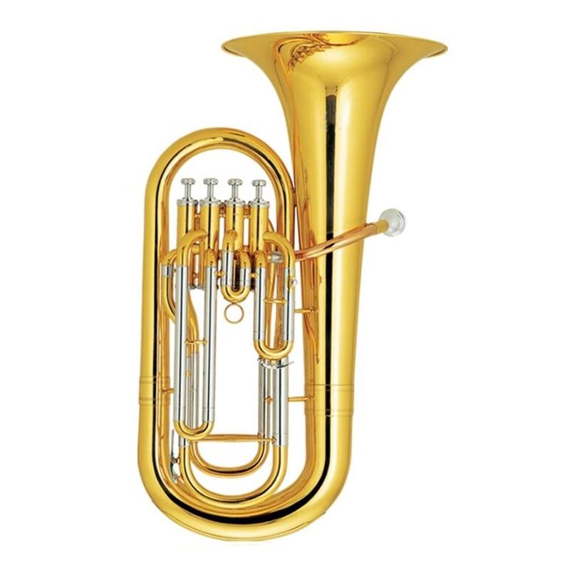 4 поршня euphonium желтый латунный роговой лак с Чехол и мундштук, музыкальные инструменты профессиональный