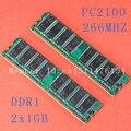 Новый рабочий стол 2 X 1 ГБ DDR DDR1 PC2100 ddr266 266 мГц пк-2100 184PIN низкой плотности DIMM памяти CL3 модуль озу бесплатная доставка