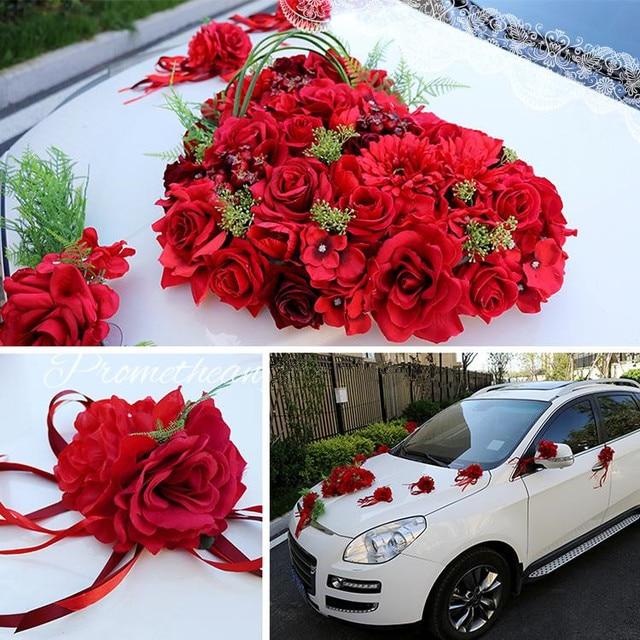 Festival Roten Grosses Herz Silk Rose Kunstliche Blume Band Hochzeit