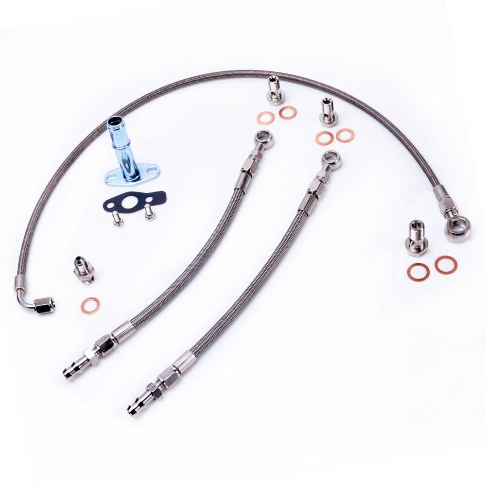 Kinugawa Turbo huile et ligne d'eau Kit pour VOLVO 740 940 B230FT w/Stock pour Mitsubishi TD04 turbo