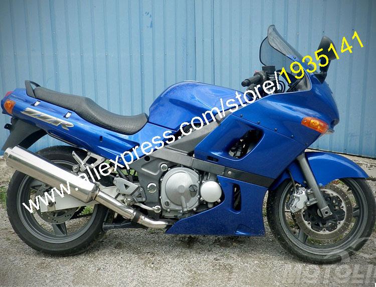 Горячие продаж,для Kawasaki ниндзя zzr400 с 1993-2003 СЗР 400 93-03 СЗР-400 все синий послепродажного мотоцикл Зализа (литья под давлением)