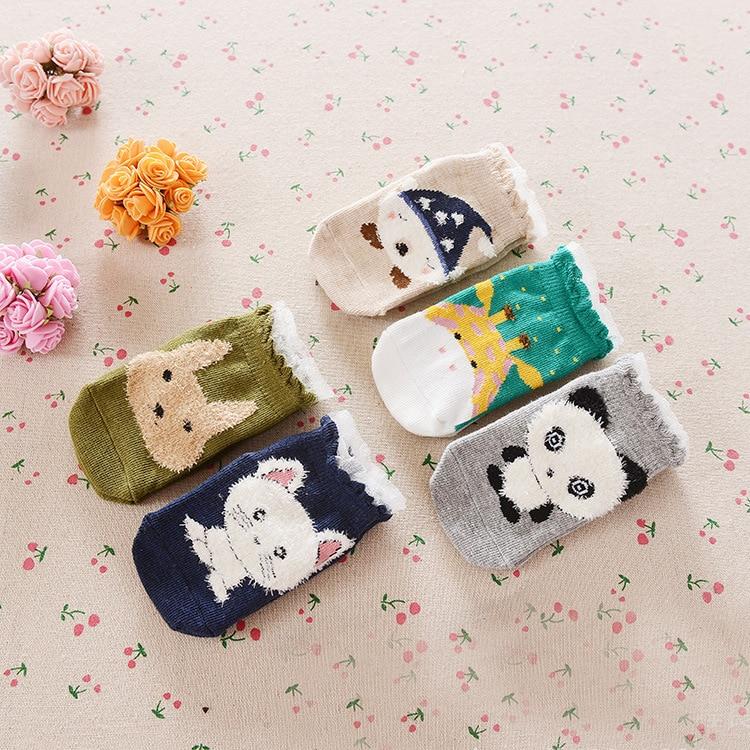 Mutter & Kinder Mädchen Kleidung Unisex Jungen/mädchen Baumwolle Socken Fußboden Rutschfeste Baby Socken Kinder Kinder Neugeborene Panda/fox/hase Cartoon Tier Socken