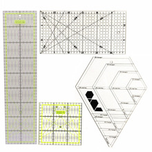 Sewing Tools Accessory Four Ruler Combination Boutique Acrylic Fight Cloth Ruler DIY Ruler Square Feet Diamond