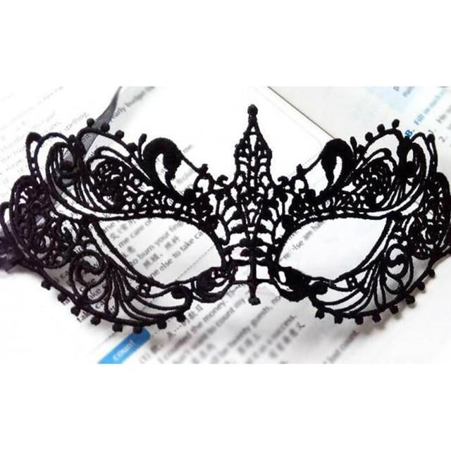 Aliexpress Com Buy 2pcs Halloween Sexy Lady Black Lace Mask Cutout Eye Mask For Masquerade