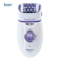 Kemei New 2 In 1 Women Shave Wool Device Knife Electric Shaver Wool Epilator Shaving Lady