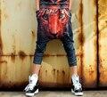 Algodón de Moda de verano de Impresión Pantalones Basculador Mujeres Hip Hop Estrella COOREENA Tiger Novedad Harem Negro Pantalones de Las Mujeres Tamaño Libre 909 #