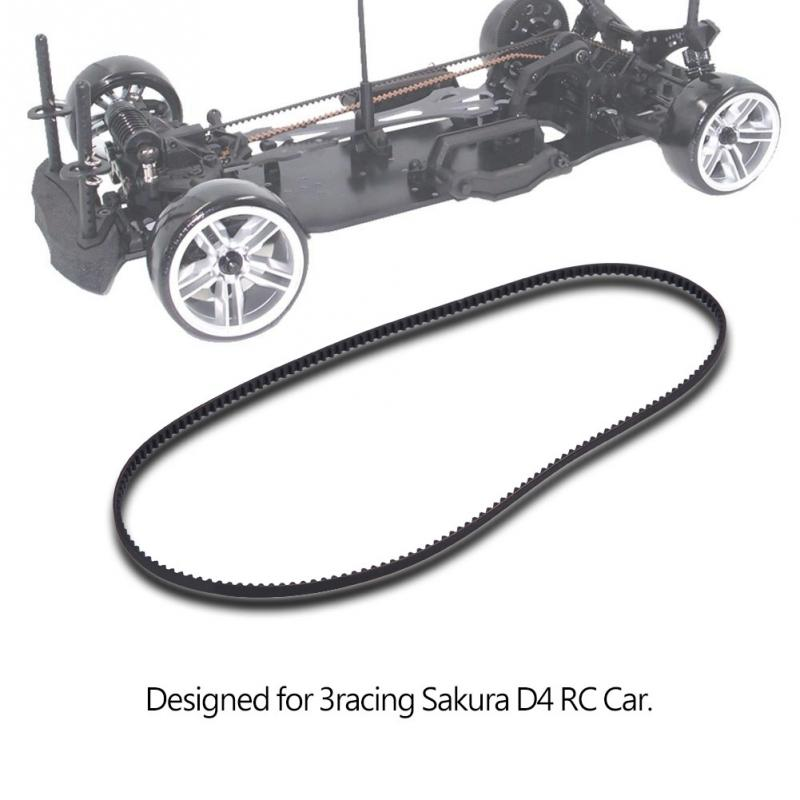 1 x Low Friction FRONT Belt 540T For 1//10 Racing Sakura D4 AWD sport car Black