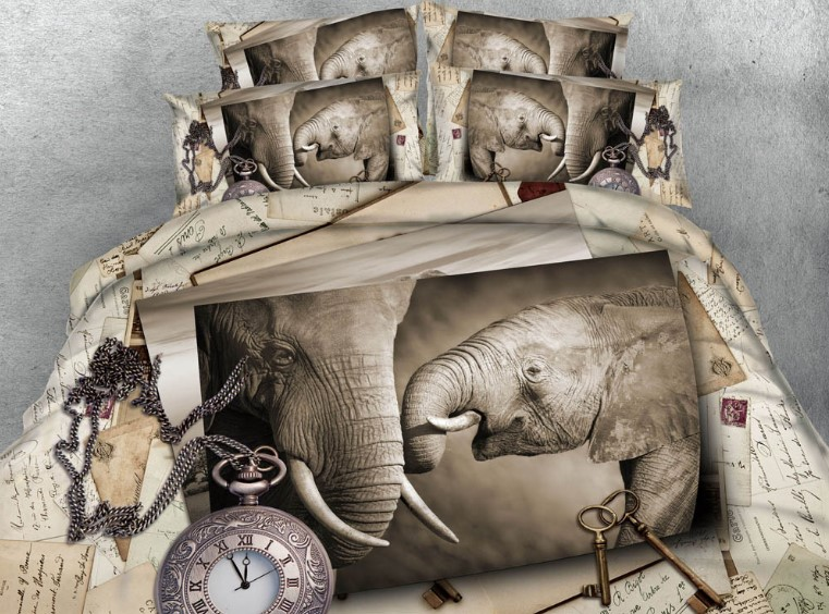 Queen Size Elephant Bedding.Us 166 25 5 Off Elephant Bedding Set Luxury Comforter California King Queen Size Full Twin 3d Quilt Duvet Cover Bed In A Bag Sheet Linen 5pcs In