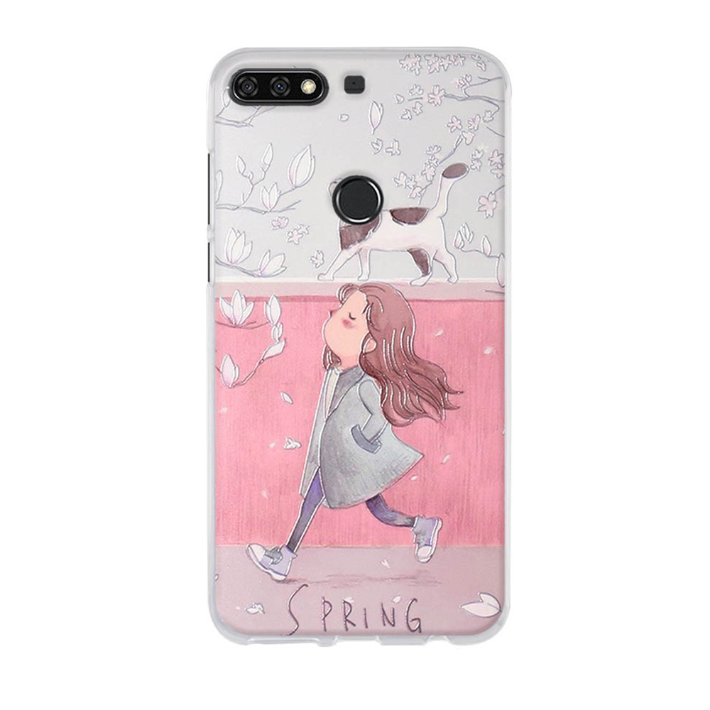 Image 5 - Silicone Case for Huawei Y7 2018 Case TPU Back Cover for Huawei Honor 7C 5.99'' Phone Covers Y7 Prime 2018 Case Y7 Pro 2018-in Fitted Cases from Cellphones & Telecommunications