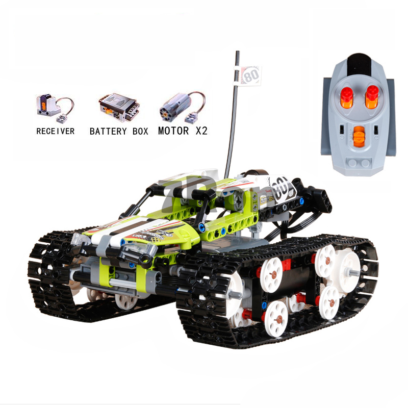 20033 397Pcs Technic The RC Track Remote control Racer Building Block children's toy birthday gift compatible with lego 42065