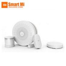 2016 original xiaomi smart home kit sistema de seguridad automático de puerta inalámbrico interruptor del sensor del cuerpo humano y sensor de puerta ventana