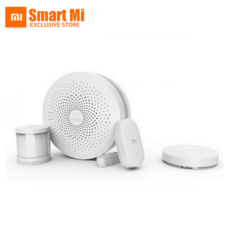 ФОТО Original Xiaomi Mijia Smart Home Kit Automatic Security System Gate way Wireless Switch Human Body Sensor And Door Window Sensor