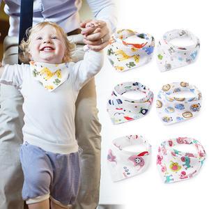 Bandana Bibs Dribble Feeding Triangle Baby Saliva Towel Burp-Cloths Infant Kids Unisex