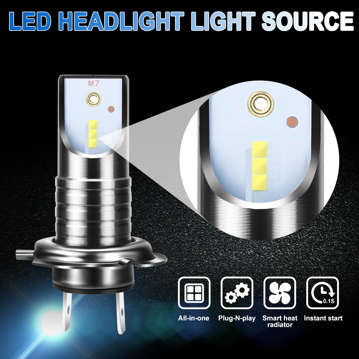 2pcs H7 LED Car Headlight Bulb 110W 13000LM 6000K 32V Canbus Error Free Bulb White Headlamp For BMW For Audi For Hyundai in Car Headlight Bulbs LED from Automobiles Motorcycles