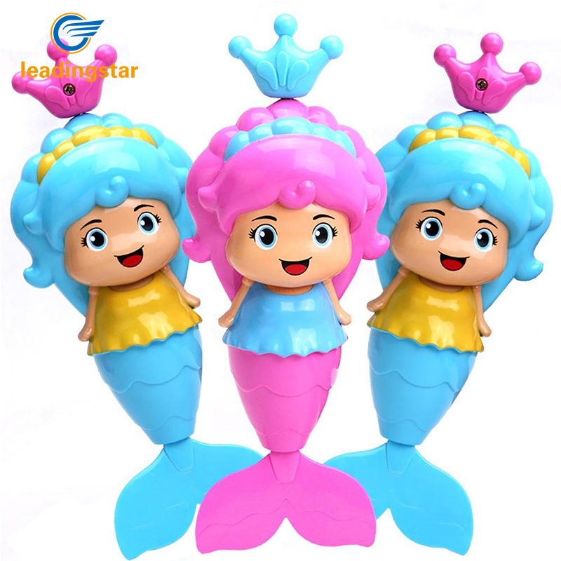 Leadingstar Mermaid Cartoon Swimming Toy Wind-up Swimming Bathtub Fun Educational Designed for Toddlers Kids Random Color zk15