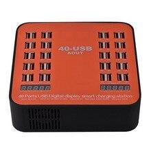 Зарядное устройство Go2linK USB, 40 портов, 200 Вт, 5 В, зарядная станция со светодиодным дисплеем, универсальная для iPhone 8, 7, 6, 6s Plus, для ресторанов, аэродромов