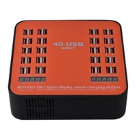 Go2linK USB Charger 40 Ports 200W 5V Charging Station With LED Display Universal For iPhone 8 7 6 6s Plus for Restaurant Airport