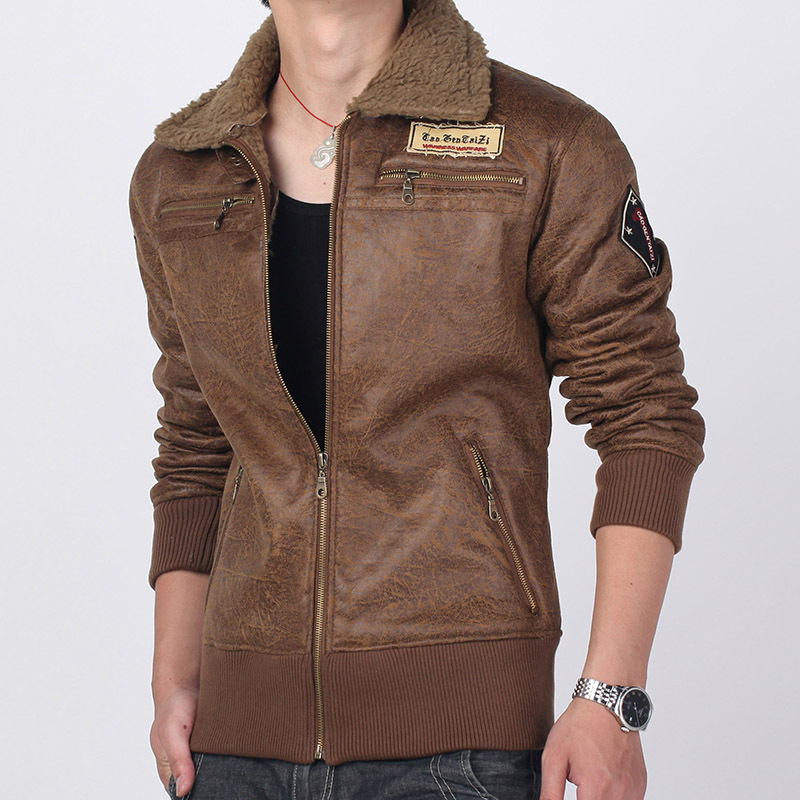 Brown Leather Air Force Jacket - Jacket