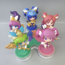 "5pcs Cute 3"" LOL Anime Game Star Guardian Poppy Lux Jinx Janna Lulu with Light Boxed 7cm PVC Action Figure Model Doll Toys Gift(China)"