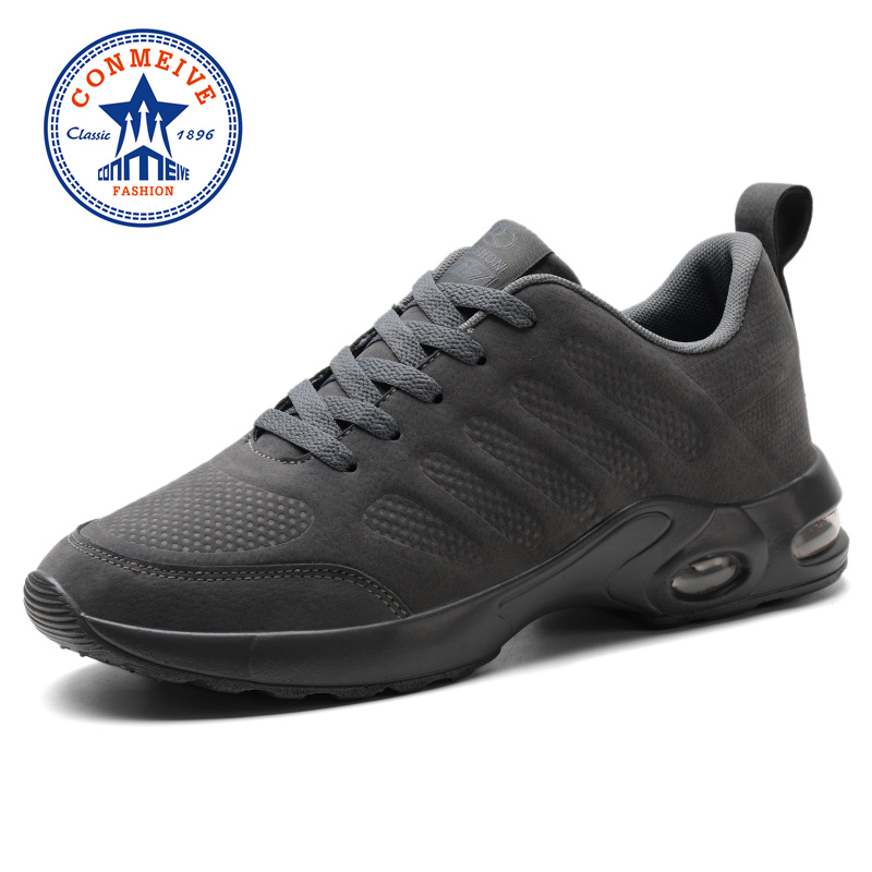 Brand Men Running Shoes Spring Autumn Artificial Leather Breathable Sport Shoes Cushioning Lace Up Man Sneakers