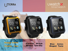 Neue IP68 Wasserdicht Kompass Bluetooth Uhr Uterra Smart Uhr Android Smartwatch Uwatch für iPhone Samsung Sony HTC Smartphones
