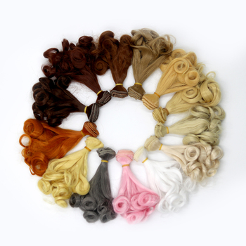 Msiredoll Bjd Wig Accessories  15*100CM 25*100CM Doll Hair For 1/3 1/4 1/6 1/12 Gradient Color Natural Bjd Wig Diy Free Shipping