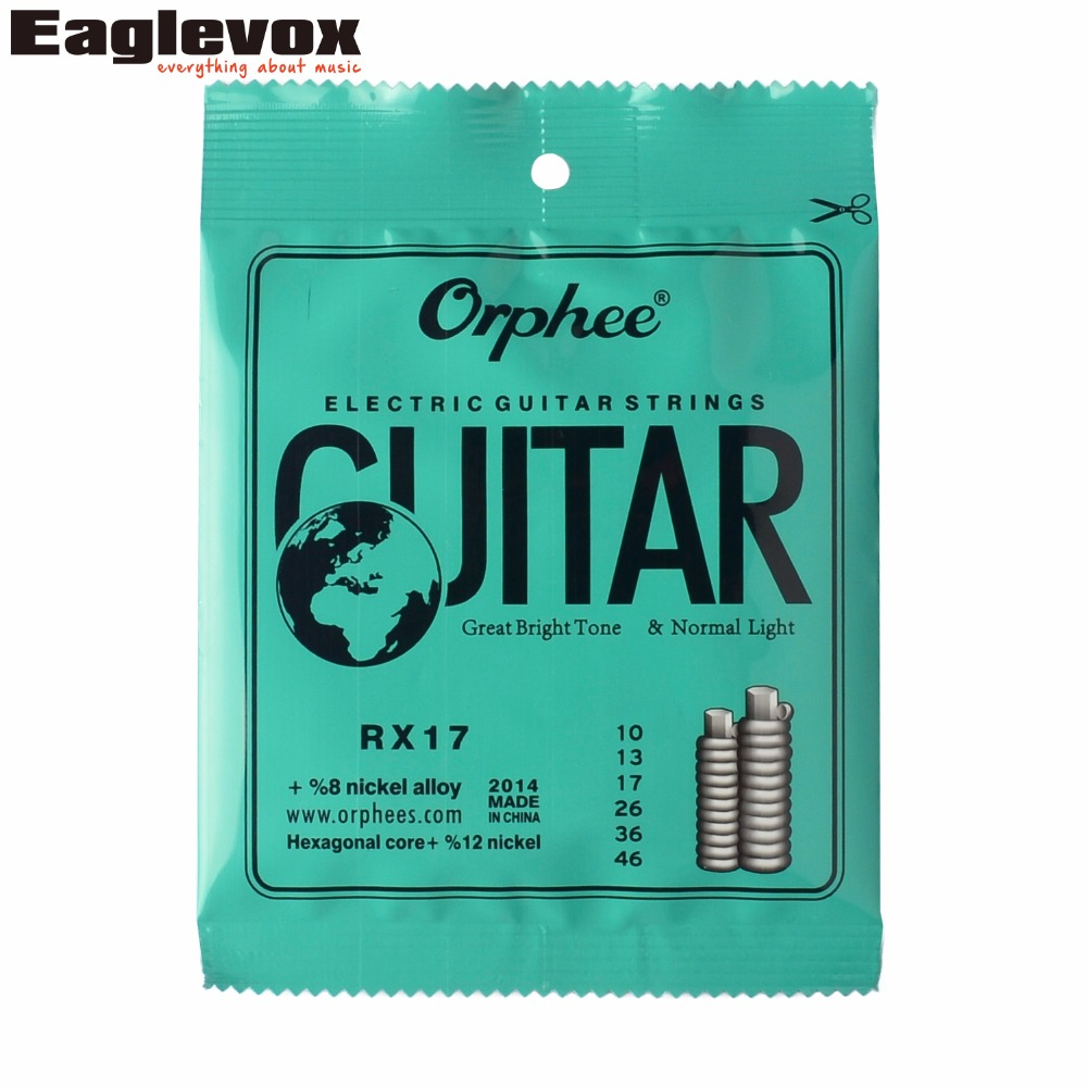 010/046 Electric Guitar String Hexagonal Core 8% Nickel Alloy Orphee RX17 zipower pm 5156