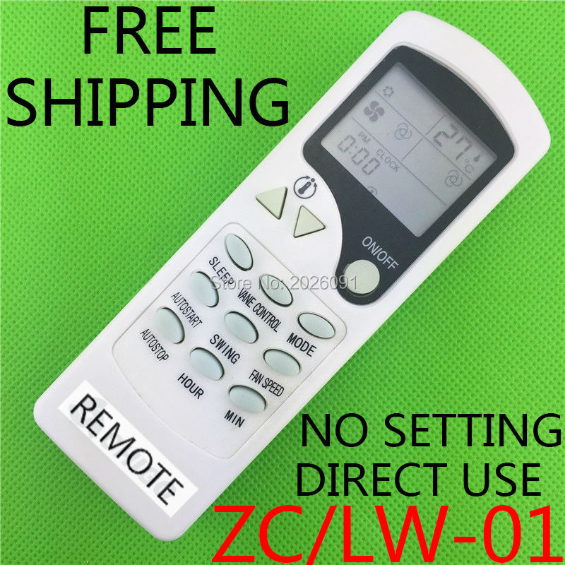 Zc Lw 01 Air Conditioner Remote Control Replace Zh 03 For Chigo Blueway Ager Toyocool Carrier Split Elgin