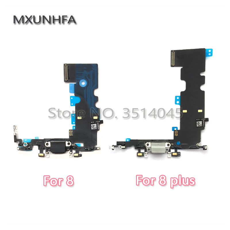1pcs New USB Charger Charging Port Dock Connector Flex Cable For iPhone 8 8G Plus X Headphone Audio Jack Replacement Parts